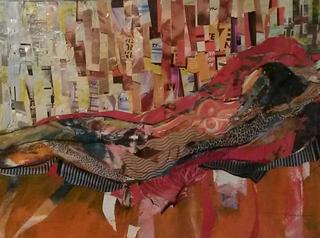 Collage - girl on orange divan-caroline sayer-700x520