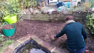 Rockery under construction 1