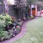 The border after planting up - we used low maintenace plants that will give interest over a long season