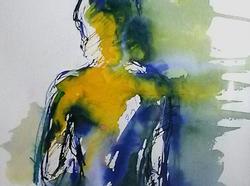 8 Standing figure blues and yellows-caroline-sayer-700x520