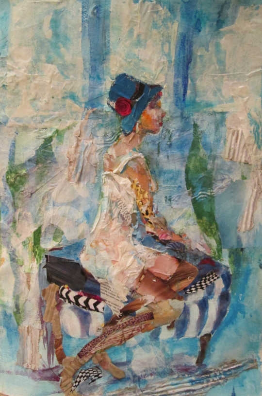 Collage - Girl in the Blue Hat
