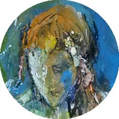 Blue Head in circle