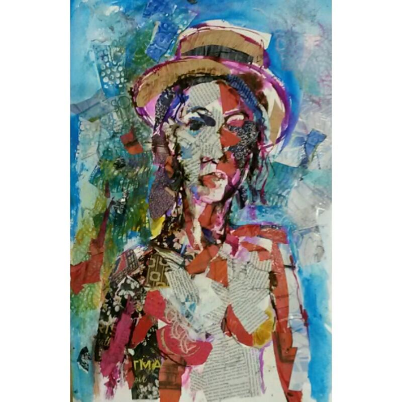 Girl with straw hat portrait