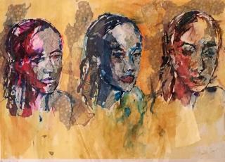 Collage - three heads