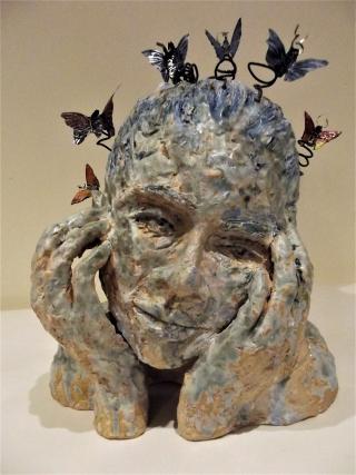 Head Full of Butterflies sculpture