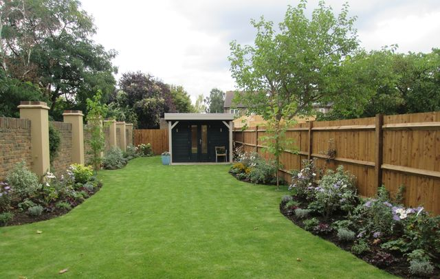 Garden we designed and planted up for new build house